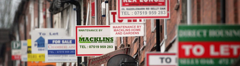 Macklins Home and Gardens Letting Maintenance